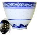 景徳鎮湯のみ(青ホタル)【単品販売】※5個お買い上げで 1個サービス rouishin1102