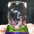 レーザー彫りクリスタル置物スクエアカットミニ置き物 02P09Jul16