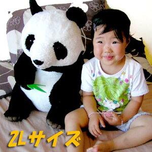 笹を食べるパンダぬいぐるみ2L★幸福大熊猫【レビュー