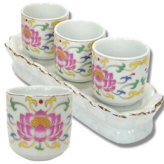 提供 ! 與 B 級,陶蓮花 (佛具杯,瓷睡蓮小杯 3 件套) [中國茶具︰ 02P01Oct16