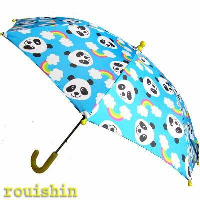 ぱんだグッズ雨具!レインボーパンダキッズ長傘(カサ、ガサ、Panda unblera)  rouishin0918