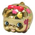 金豚(金ぴか花ぶた)貯金箱 02P23Sep15