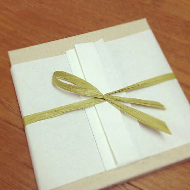和紙 折形のギフトラッピング: