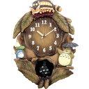 振り子はマックロクロスケ 毎正時に「トトロ」のテーマ曲が鳴ります 作品らしさを出したおしゃれな木枠 作品の好きな方なら、是非手に入れたい一品です【カード決済のみ】キャラクター時計 となりのトトロ DR-043