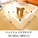 ペットフェンス S 8枚セット tsk|ペット ゲージ 犬 ペット用品 ペット フェンス 室内 サー...