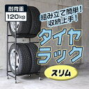 【送料無料】【タイヤ保管スチール製ブラック】『スペアタイヤスタッドレスタイヤなど収納タイヤラックキャスター付きカバー付きスリム』(B479)