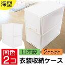 【収納ケース プラスチック 引き出し 日本製 キッチン クローゼット 押入れ 洗面所】衣装 衣類 ケース多目的 深型 セット