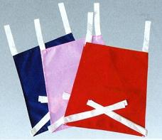 Color plain trapezoid bib color 10 piece set (nylon)