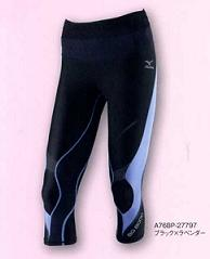 Mizuno /MIZUNO WOMEN's biogas tights ( semi-long ) BG8000