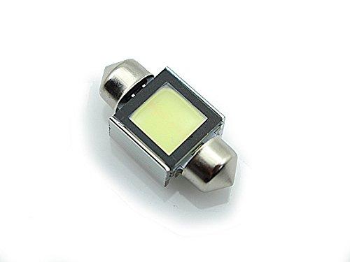 T10×29_超高輝度2W_白色フラット/ルーム球【1個】T10×29mm/ホワイト/LED/バイク部品/LED電球/面発光タイプ/ナンバー灯/ルームランプ