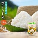 送料無料 ブレンド米 10kg 国内産複数原料米 白米