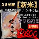 28年山形県産ササニシキ 5k【送料無料!!】