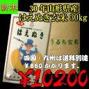 29年山形県産はえぬき玄米 30kg...