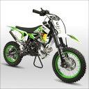 ☆最速50ccポケットバイク☆ダートバイクモトクロス倒立モデル グリーン CR-DB03