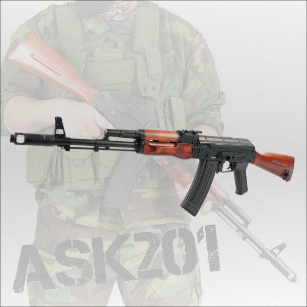 APS フルメタル&リアルウッド カラシニコフAK74モデルブローバック電動ガン ASK-201 エアガン ミリタリー