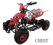 最新前後ディスクブレーキ50ccMINI 四輪バギー最高速度 45km/h赤色トリプルサス仕様格安消耗部品