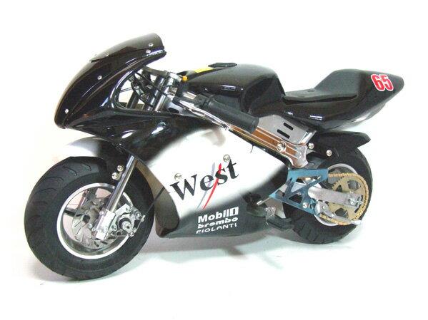 ポケバイ CR-PBR01☆50ccGP WESTカラーモデル格安消耗部品 ポケットバイク