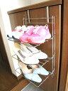 ◆シューズラック【日本製】≪ひっかけシューズラック3段 レギュラー≫靴箱の扉に引っ掛けるだ...