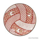 バボちゃん 九谷焼 豆皿 赤絵風排球図