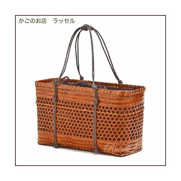 ラッセル 内布つき高品質 竹かごバッグ 7012