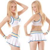 コスプレ 衣装 レディース チアガール 制服 コスチューム コスラン シースルーチアガール PR010111