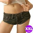 デニムハイレグホットパンツ XXL ショートパンツ セクシー ホットパンツ 大きいサイズ マイクロミニ コスプレ 衣装 ショートパンツ