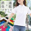ポロシャツ レディース 半袖【ボタンダウン ポケット付き/UVカット/ドライカノコ 吸水