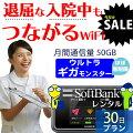 【SALE特価】 wifi レンタル 入院 30日 ほぼ無制限 国内 専用 ソフトバンク ポケットwifi E5383 Poc...