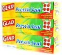 【GLAD】Press'n Seal  グラッド プレス&シール 多用途シールラップ 幅 30cmX長さ 43.4m お買い得3個セット マジックラップ/3本