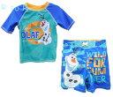 【オラフ/OLAF】ラッシュガード&トランクス水着セット UPF50+ アナ雪/アナと雪の女王/FROZEN