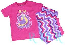 【メール便無料♪】新入荷♪Disney【塔の上のラプンツェル】ピンク/半袖パジャマ2ピースセット ディズニープリンセス