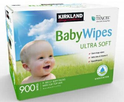 KSベビーワイプアメリカ製赤ちゃんのおしりふき100枚×9パック合計900枚カークランドシグネチャー