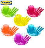 【レビューで♪】 IKEA イケア 【KALAS】カラフル♪食器セット 36ピースセット★ベビー/キッズ用食器セット