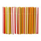 IKEA 【SODA】 カラフルストロー200本セット フレックスタイプ(曲がるタイプ) ホワイト&グリーン&レッド&オレンジ イケア