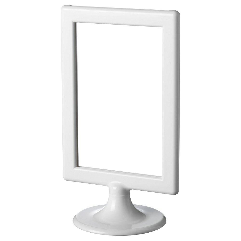 IKEA TOLSBY 【写真フレーム 両面タイプ2枚用】ホワイト ハガキサイズ/メニュースタンド/テーブルメニューにも♪ イケアの写真