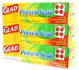 【GLAD/グラッド】 Press''n Seal プレス&シール 多用途シールラップ 幅 30cmX長さ 43.4m お買い得3個セット マジックラップ/3本