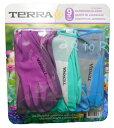 Terra ガーデングローブ レディース ワンサイズ 9組セット(3種類×3組) ガーデニンググローブ / 軍手 / ニトリルグローブ