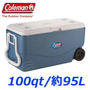【送料無料♪】コールマンエクストリームホイールクーラー100qt/94.6L車輪付き大型クーラーボックス/ホイール付き/マリンブルーColemanXtreme
