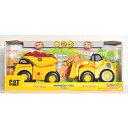 CAT【ランブリングライド ダンプカー&ホイールローダー2個セット】 Rumblin' Ride 2 Pack Dump Truck & Wheel Loader/キャタピラー社