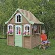 SOLOWAVE 木製プレイハウス/ベンチ キッチン用品付属 組立式 高さ175cm幅127cm奥行167cm※代引き不可