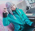 コスプレ衣装 エロマンガ先生 和泉紗霧 風 コスチューム (女性M) 髪飾リボン付き パーカー 緑