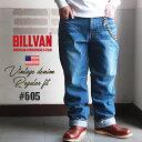 【送料無料】 メンズ デニムパンツ BILLVAN 605 ルーズフィット ヴィンテージ加工 デニムパンツLT/ INDIGO ビルバン ジーンズ ワイド 送料無料