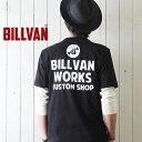 Tシャツ メンズ アメカジ BILLVAN バック アメリカンワークス スタンダード バックプリントTシャツ 300305 ビルバン