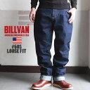 メンズ デニムパンツ BILLVAN #605 ワンウォッシュ ルーズフィット ヴィンテージ加工 オーセンティック デニムパンツ ビルバン ジーンズ ワイド