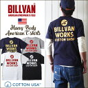 アメカジ Tシャツ BILLVAN バック アメリカンワークス スタンダード バックプリントT