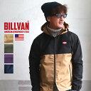 ジャケット BILLVAN 撥水 防風 2トーンカラー マウンテンパーカー メンズ アメカジ マンパー