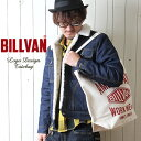 BILLVAN ナチュラル キャンバス ビッグ ダイヤロゴ トートバッグ
