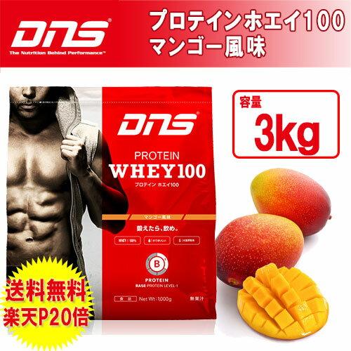 DNS プロテイン ホエイ100 3Kg マンゴー風味 大容量のビッグサイズ。フルーツフレーバーの中でダントツの人気を誇るマンゴー味!