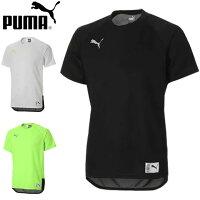 プーマ 半袖Tシャツ メンズ プラクティスシャツ トレーニングシャツ ショートスリーブシャツ S/S シャツ ウエア トップスサマー トレーニング ドライ サッカー S-XXL FTBLNXT カジュアル SS メッシュ PUMA 656204の画像
