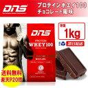 ☆ DNS プロテイン ホエイ100 1Kg チョコレート風味 アスリートに求められるたんぱく質の摂取を第一に考えた高品質プロテイン